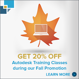 Get 20% off Autodesk Training Classes during our Fall Promotion. Learn more.