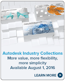 Autodesk Industry Collections. Available August 1, 2016. Learn more.