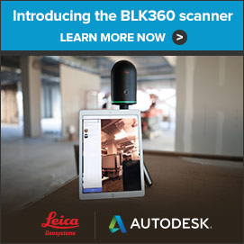 Introducing the BLK360 scanner. Learn More.