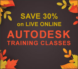 Save 30% on LIVE Online Autodesk Training Classes