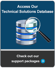 Access Our Technical Solutions Database. Check out our support packages.